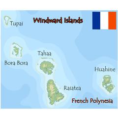 windward islands french polynesia map flag
