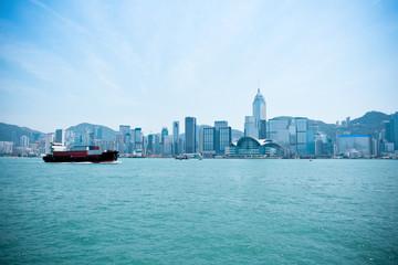 hong kong victoria harbor landscape