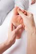 Detail foot reflexology massage