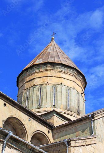 Dome of Svetitskhoveli Cathedral in Mtskheta, Georgia