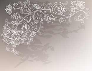 Refine wedding background with lace decorative white flower.