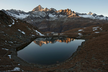 mountain lake in Pennine Alps, Switzerland
