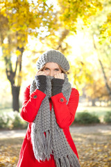 cold girl with scarf
