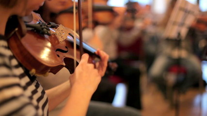 Several violinists played professional tone.