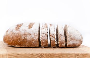 Whole bread slices