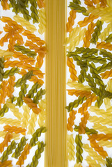 Dried Pasta Medley Background