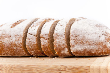 Brown bread sliced