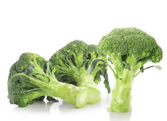 set broccoli on white background