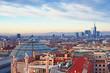 "Milan skyline from   (""Duomo di Milano""). Italy."