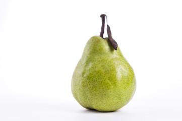 Tasty Ripe Pear on white