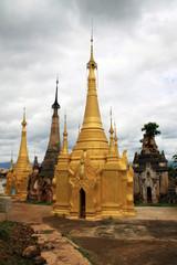 old Myanmar ruins of temples