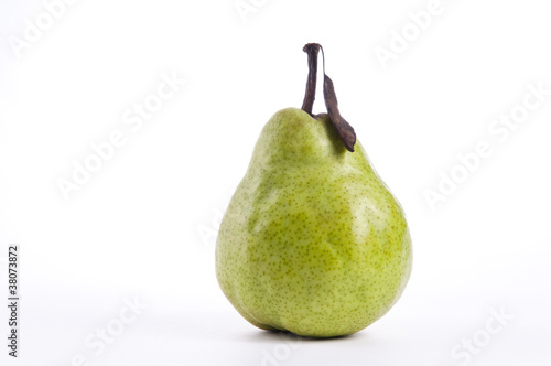 Tasty Ripe Pear on white