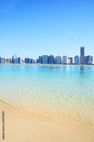Foto Spatwand Dubai Beach in Abu Dhabi, UAE