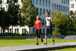 Sport und Jogging Fitness in der Stadt