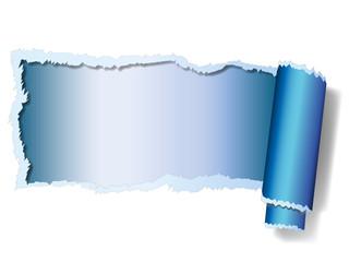 Papier - gerissen - blau