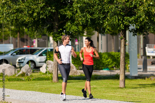 Urban sports - jogging fitness in the city