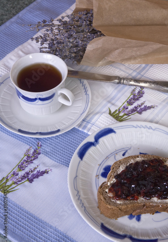 Lavender Tea with Jam