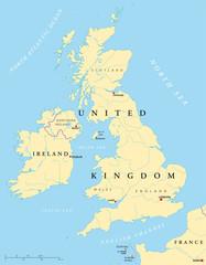 Irland und Großbritannien Landkarte