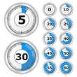 Vector Blue Timers