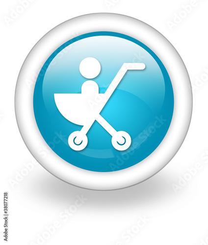 "Light Blue Icon ""Stroller"""