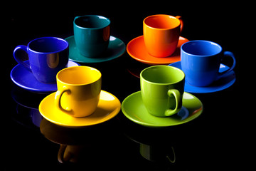 Coffee cups.