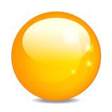 glaskugel gelb
