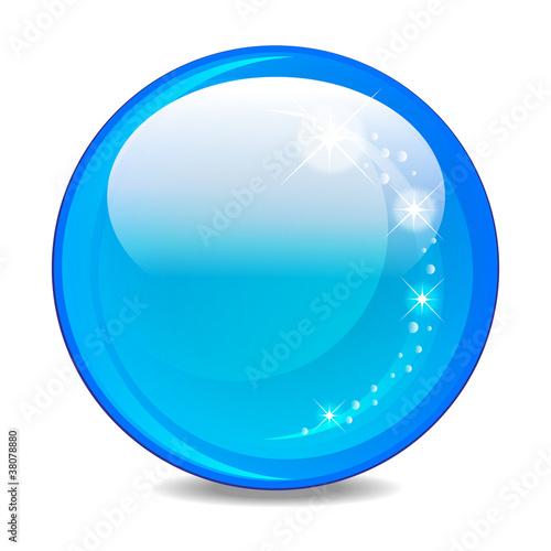 glaskugel - blau