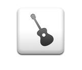 Boton cuadrado blanco silueta guitarra