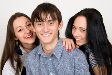 beautiful three friends