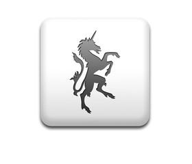 Boton cuadrado blanco unicornio heraldica