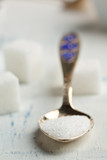 Spoon of white sugar