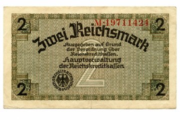 Vintage money - German 2 Occupation Reichsmarks