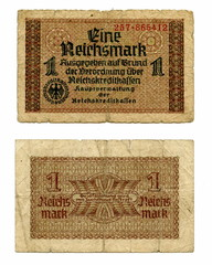 Vintage money - German 1 Occupation Reichsmark
