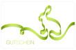 Gutschein Osterhase Schleifenband grün