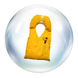life jacket in bubble