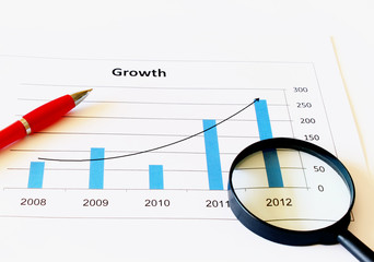 business chart showing growth at 2012