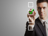 businessman - tick off checklist