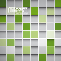 Abstract Green Squares Background Vector