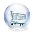 shopping cart in bubble