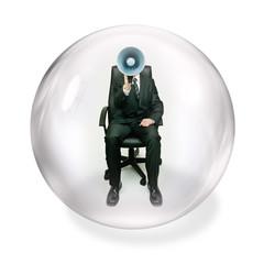 shout inside bubble