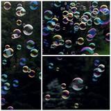 Soap bubbles collage