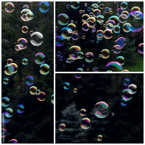 Soap bubbles collage © emar