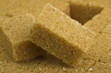 brown lump cane sugar cubes