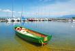 Barque verte au lac Léman