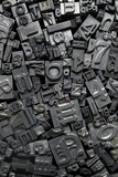 Metal Letterpress Type Background