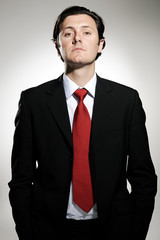 Arrogant businessman portrait