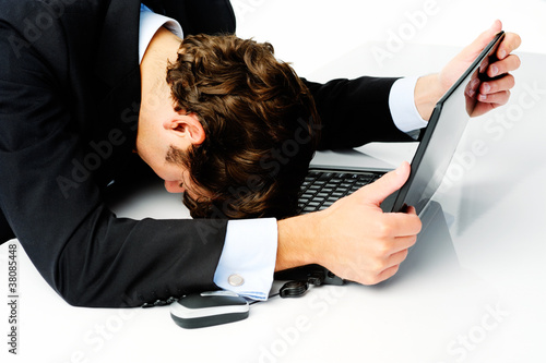 Businessman gives up