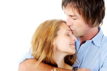 comforting kiss