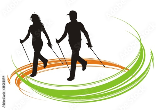 nordic walking color
