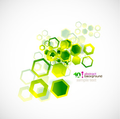 Abstract shapes vector background